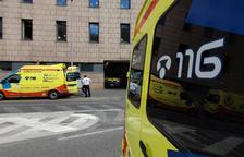 Ambulàncies davant de l' hospital