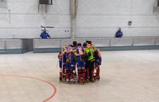 Els jugadors tricolors celebren la victòria.