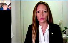 La secretària d'estat,Helena Mas, a la reunió.