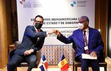 Víctor Filloy i Ruben Silié, en la trobada bilateral d'aquest matí