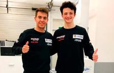 Xavi Cardelús amb el nou company d'equip, Mattia Rato.
