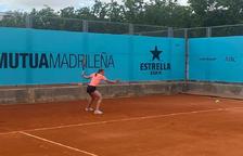 Vicky Jiménez cau en el seu debut al Mutua Madrid Open contra la número 10 del món