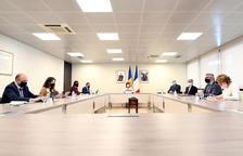 La reunió va tenir un format semipresencial.
