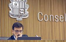 Jordi Cinca durant la compareixença al Consell General.