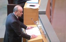 El ministre Josep Maria Rossell en la sessió de Consell aquesta tarda