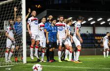 Duel de l'Europa League entre l'Inter Escaldes i el Dundalk.
