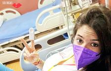 Troguet, a l'hospital de Katmandú on li van fer proves.