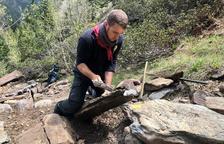 La Massana restaura els camins del Parc Natural del Comapedrosa amb pedra seca