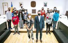 Els alumnes de sisè del Lycée visiten el comú