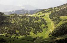 Zona on anirà l'heliport, vista des de Setúria.