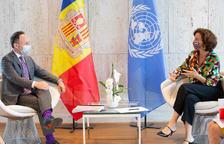Trobada del cap de Govern amb la directora general de la UNESCO d'avui a París