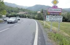 Carretera nacional 116 en el terme municipal de Sallagossa.