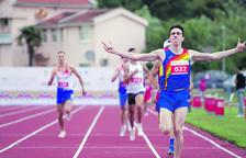 Pol Moya als Jocs dels Petits Estats de Montenegro.