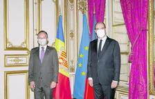 El cap de Govern, Xavier Espot, i el primer ministre de França, Jean Castex.