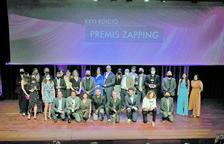 Els premiats dels últims premis Zapping, atorgats dimarts a la nit.