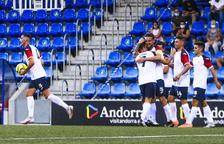 Celebració del gol de Guillaume