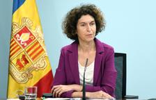 La ministra Maria Ubach en roda de premsa.