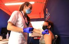 Vacunació divendres passat a la plaça de braus