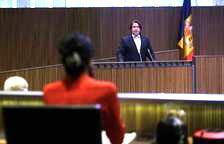 Carles Naudi aquest matí al Consell