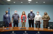 Signatura del conveni entre el Ministeri de Medi Ambient i AGIA