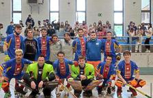 L'Andorra HC celebrant la classificació per al play-off d'ascens la temporada passada.