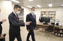 Trobada del ministre Gallardo amb el vicepresident de la Generalitat, Jordi Puigneró.