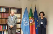La ministra Ubach amb el ministre d'Afers Exteriors de Portugal