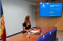 La secretària d'Estat de Salut, Helena Mas, durant la roda de premsa.
