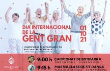 Cartell del dia internacional de la gent gran a Encap.