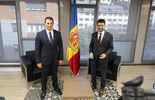 Gallardo i Puigneró, a la trobada que hi va haver al ministeri d'Economia.