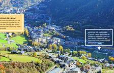 Vista panoràmica d'Encamp, on es construirà la ciutat esportiva MoraBanc.