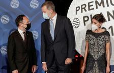 Espot amb els reis d'Espanya, al Premi Planeta