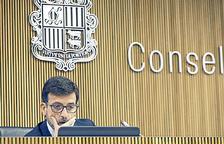 El president del Fons de reserva de jubilació, Jordi Cinca, al Consell General.