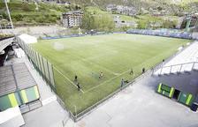 Vista de l'estadi de Prada de Moles.