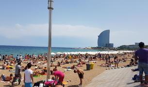 La Barceloneta.