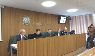 Compareixença al Consell General per presentar les simulacions del sistema de pensions.
