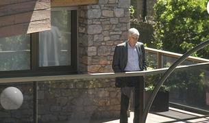 L'advocat Josep Casadevall al domicili dels Cierco durant l'escorcoll