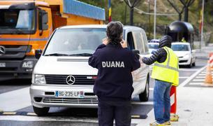 Un agent del cos de duaners a la frontera hispanoandorrana.