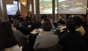 El director d'Actua, Marc Pons, al congrès Town Meeting Top Italian Destinations