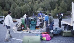 Un grup de caçadors a Sorteny, l'any passat.