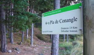 El pla de Conangle és l'últim tram de l'itinerari