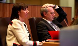 Els ministres de Funció Pública i de Salut, al Consell General.