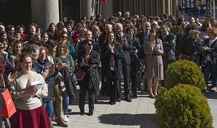 Més d'un centenar de persones participen en l'aturada per la igualtat de gènere