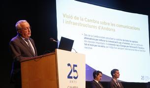 Miquel Armengol, responsable de la Cambra de Comerç durant la presentació del Pla de desenclavament d'Andorra