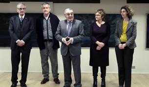 L'ambaixador d'Espanya al Principat, Àngel Ros, durant la inauguració de 'Pinzells en dansa'