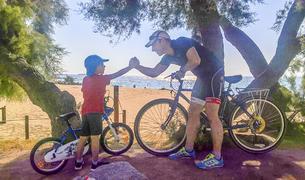 Eloi Garcia ha tornat a practicar esport impulsat per recuperar-se per l'incentiu que troba en els dos fills.