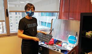 Marta Alberch, directora d'Unicef, al seu despatx.