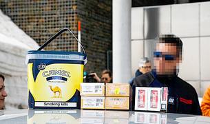 Tabac decomissat a la duana del Pas.