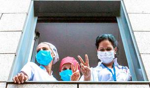 Sanitàries de l'hospital.