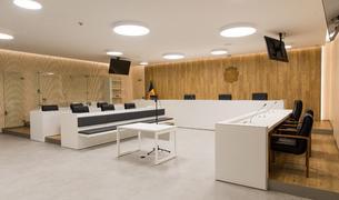 Sala de vistes de la nova seu de la justícia